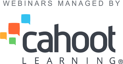 Webinars managed by Cahoot Learning